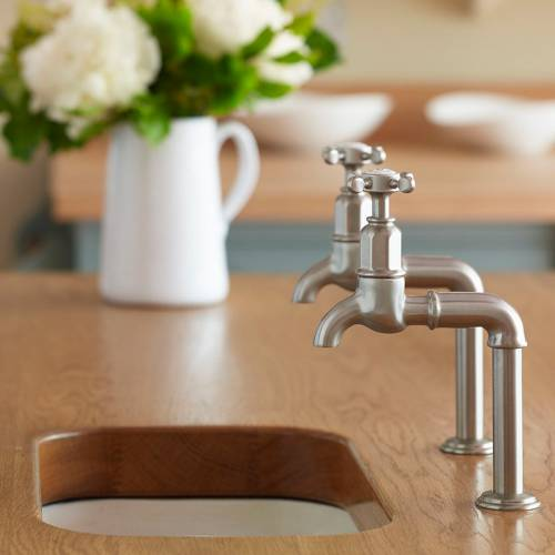4338 MAYAN Bibcock Deck Mounted Kitchen Tap with Crosshead Handles