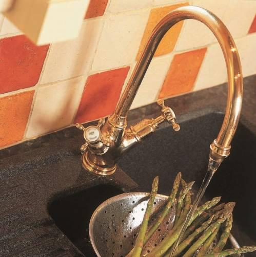 4385 MINOAN Mixer Kitchen Tap with Crosshead Handles
