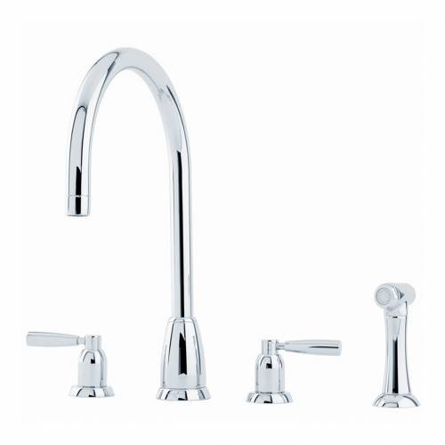 CALLISTO 4891 Four Hole Kitchen Tap with Rinse