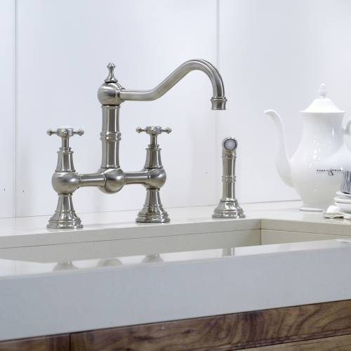 4755 Bridge Kitchen Tap with Rinse