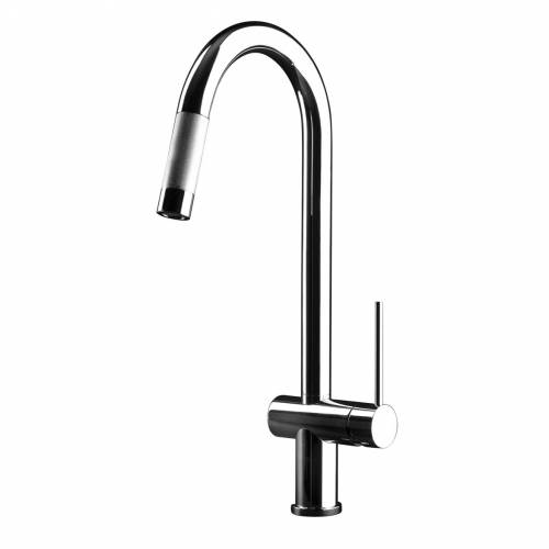 OXYGEN Monobloc Kitchen Tap with Pull-Out Spray