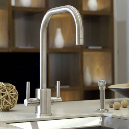RUBIQ 'U' Spout Kitchen Tap with Rinse