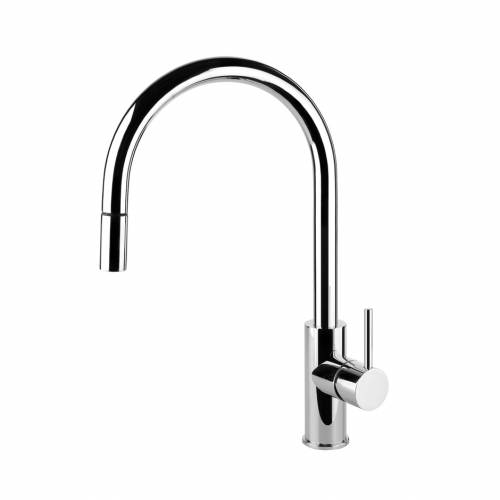 OXYGEN Monobloc Kitchen Tap with Pull-Out Rinse
