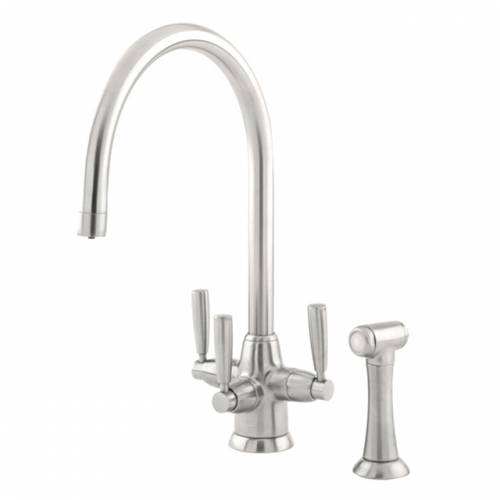 1580 METIS Filtration Mixer Kitchen Tap with Lever Handles and Rinse