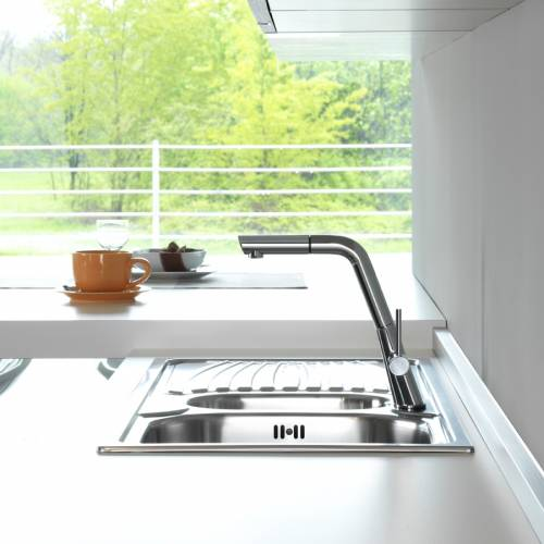 OCEAN Kitchen Tap With Pull Out Rinse