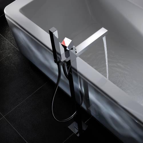 ZEAL Floor Standing Bath Filler Tap with Shower Handset