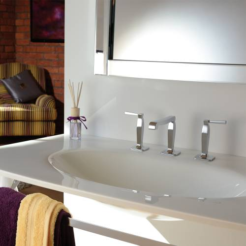 DECADENCE Deck Mounted 3 Hole Basin Mixer with Pop up Waste