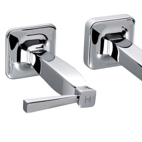 DECADENCE Wall Mounted 3 Hole Basin Mixer Tap