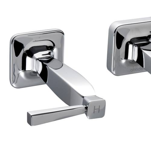 DECADENCE Wall Mounted 3 Hole Bath Mixer Tap