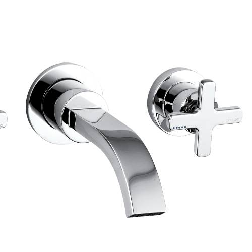 SERENITIE Wall Mounted 3 Hole Bath Mixer Tap