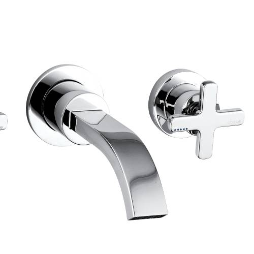 SERENITIE Wall Mounted 3 Hole Basin Mixer Tap