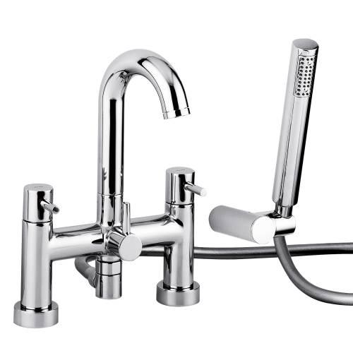 HARMONIE Deck Mounted Bath Shower Mixer Tap with Shower Handset