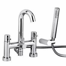 HARMONIE Deck Mounted Bath Shower Mixer Tap with Shower Handset