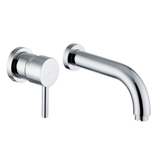 HARMONIE Wall Mounted 2 Hole Basin Mixer Tap