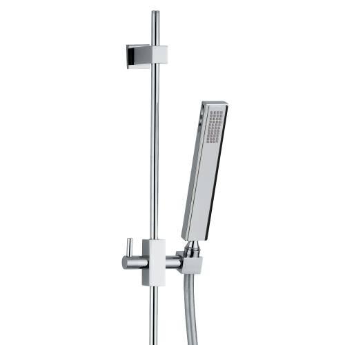 EUPHORIA Square Rising Rail Shower Kit 1