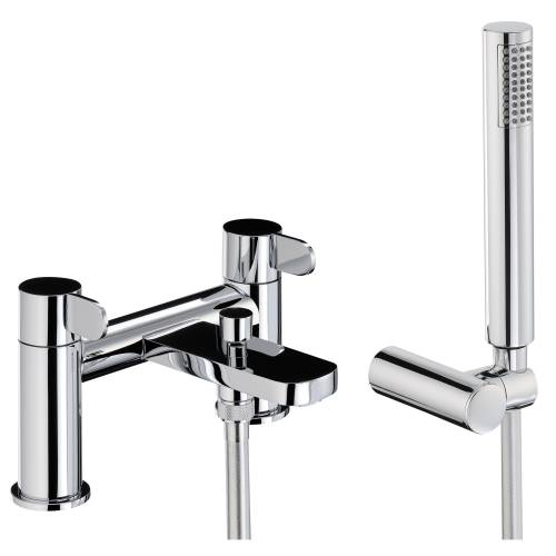 BLISS Deck Mounted Bath Shower Mixer Tap with Shower Handset