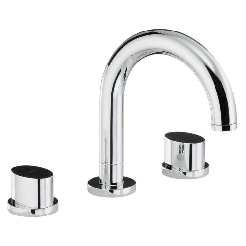 Debut Thermostatic Deck Mounted 3 Hole Bath Mixer Tap