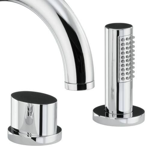 DEBUT Thermostatic Deck Mounted 4 Hole Bath Shower Mixer Tap