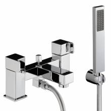 RAPPORT Deck Mounted Bath Shower Mixer Tap with Shower Handset
