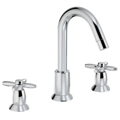 Opulence Deck Mounted 3 Hole Basin Mixer Tap
