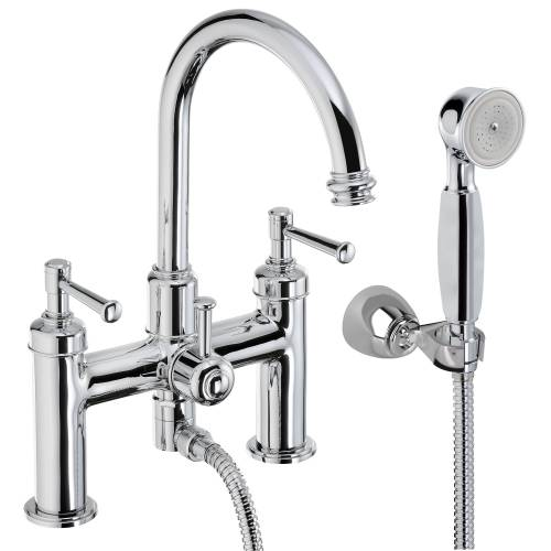 GALLANT Deck Mounted Bath Shower Mixer Tap with Shower Handset