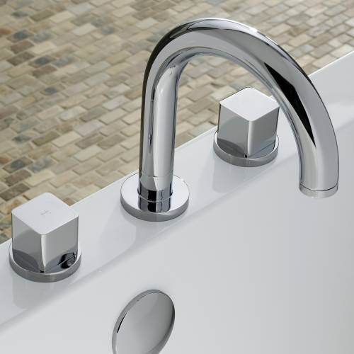 RAPPORT Thermostatic Deck Mounted 3 Hole Bath Mixer Tap