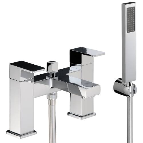 FERVOUR Deck Mounted Bath Shower Mixer Tap with Shower Handset