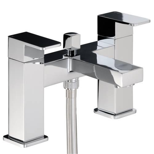 FERVOUR Deck Mounted Bath Shower Mixer Tap with Shower Handset