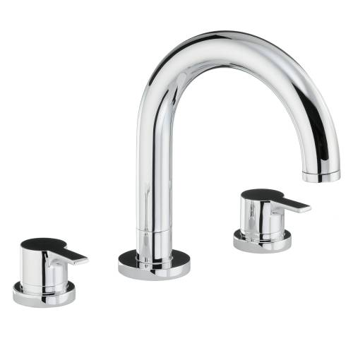 DESIRE Thermostatic Deck Mounted 3 Hole Bath Mixer Tap