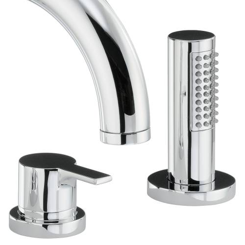 DESIRE Thermostatic Deck Mounted 4 Hole Bath Shower Mixer Tap