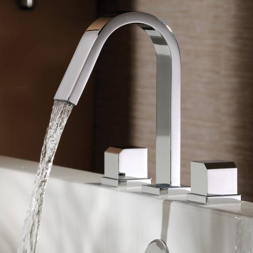 Extase Thermostatic Deck Mounted 3 Hole Bath Mixer Tap