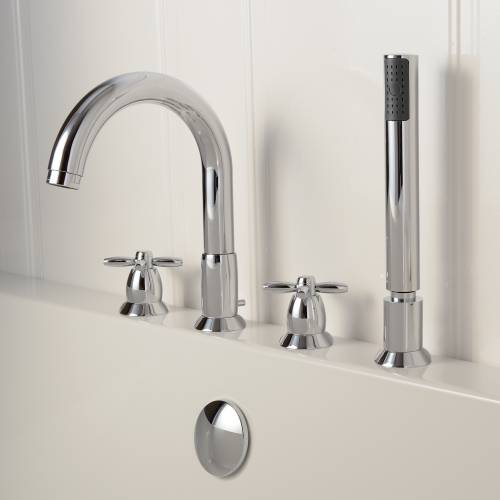 Opulence Deck Mounted 4 Hole Bath Shower Mixer Tap