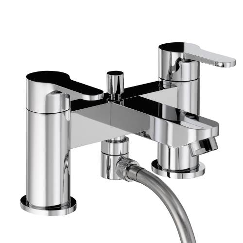 DEBUT Deluxe Deck Mounted Bath Shower Mixer with Sliding Rail Kit