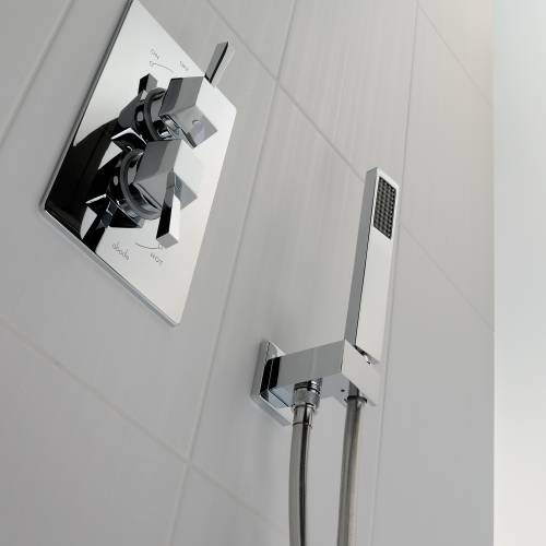 Square Combined Wall Outlet & Handshower & Bracket