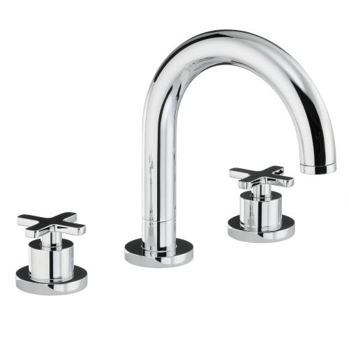 SERENITIE Thermostatic Deck Mounted 3 Hole Bath Mixer Tap