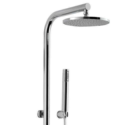 Circular Wall Mounted Thermostatic Shower Post
