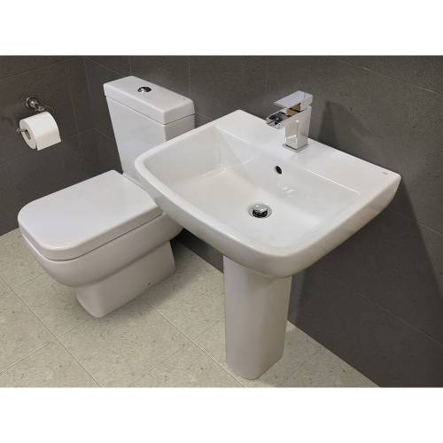RAK Basin and WC Set with FREE Bath Waterfall Filler