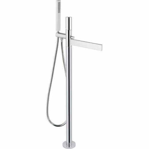 Cyclo Floor Standing Bath Filler Tap with Shower Handset