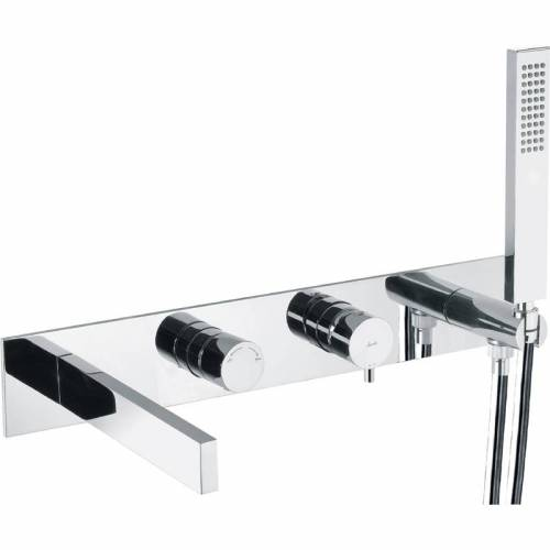 Cyclo Wall Mounted Bath Shower Mixer Tap with Shower Handset