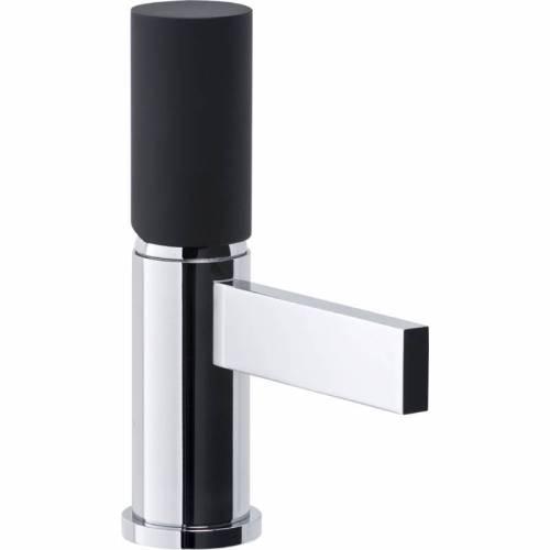Cyclo Mini Basin Monobloc Mixer Tap - Black & Chrome
