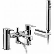 Vedo Deck Mounted Bath Shower Mixer Tap with Shower Handset