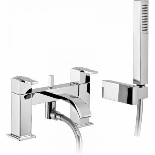 Iso Deck Mounted Bath Shower Mixer Tap with Shower Handset