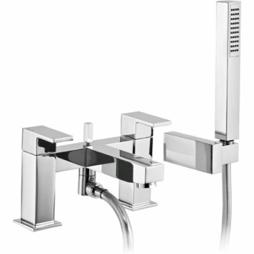 Cento Deck Mounted Bath Shower Mixer Tap with Shower Handset