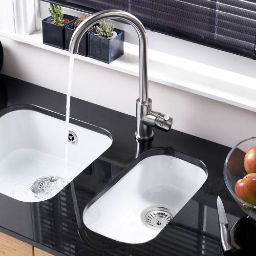 LINCOLN Undermount Ceramic Kitchen Sink 250x400