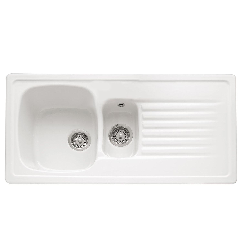 Caple Ashford 150 Inset Ceramic Sink - Sinks-Taps.com
