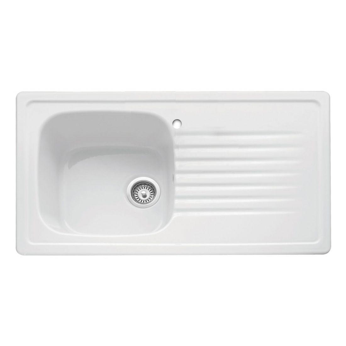 Bluci ASHTON 100 Ceramic Inset Kitchen Sink - Sinks-Taps.com