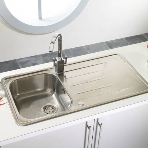 TOPAZ 1.0 Stainless Steel Kitchen Sink with FREE ACCESSORIES