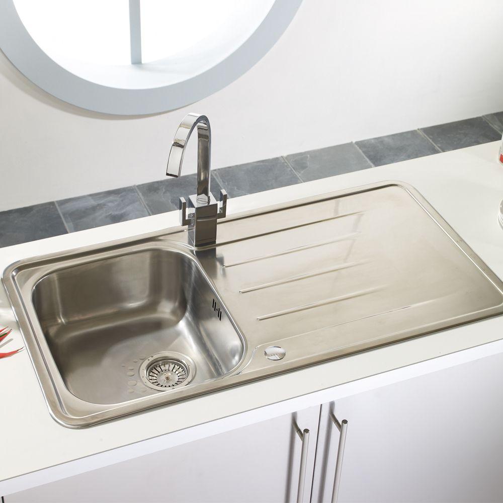 Astracast topaz 1 0 bowl stainless steel kitchen sink - Stainless steel kitchen sink accessories ...
