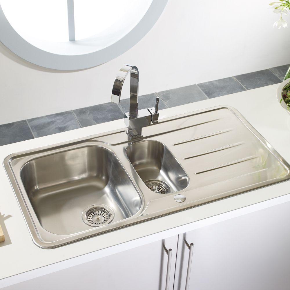 Astracast topaz 1 5 bowl stainless steel kitchen sink - Stainless steel kitchen sink accessories ...