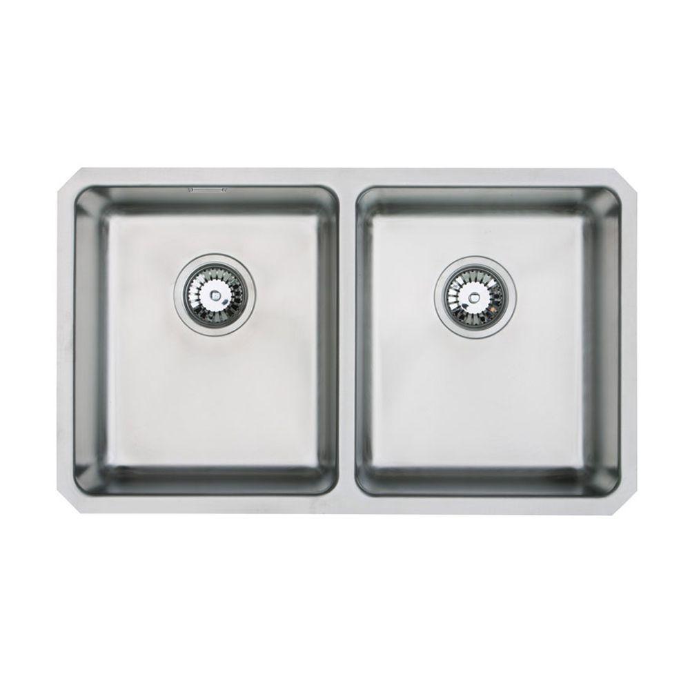 ORBIT 02 Double Bowl Undermount Kitchen Sink - Sinks-Taps.com